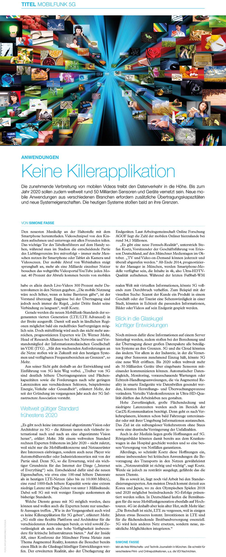 Verbia - Keine Killerapplikation fuer 5 G - VDE Dialog