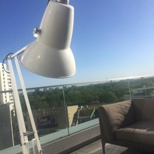 Berlin Dachterrasse Lampe